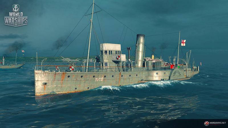 Файл:WG WoWS SPb Screenshots Misk Ships 1920x1080px Medway Queen.jpg