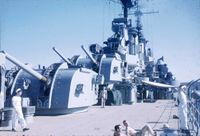 USS_Roanoke_MK-27_Fire_Control_Radars_mounted_on_the_6-inch_MK-16_DP_turret,_1954.jpg