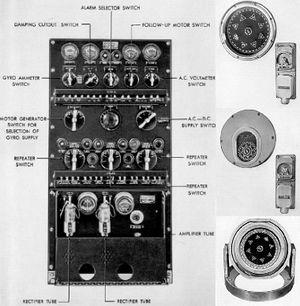 Панель управления и репетиры гирокомпаса Arma Mark VII