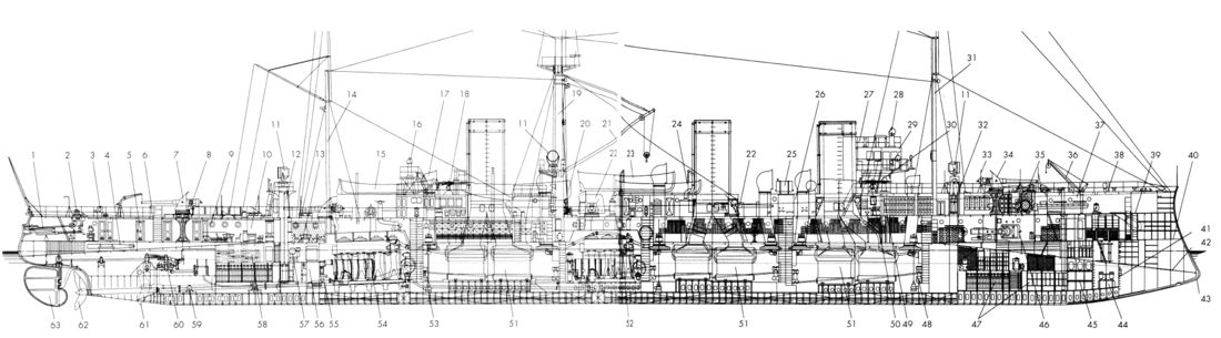 Схема корабля