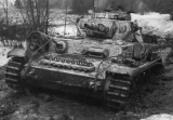 Panzer IV stuck in the mud (rasputica) on the Eastern front