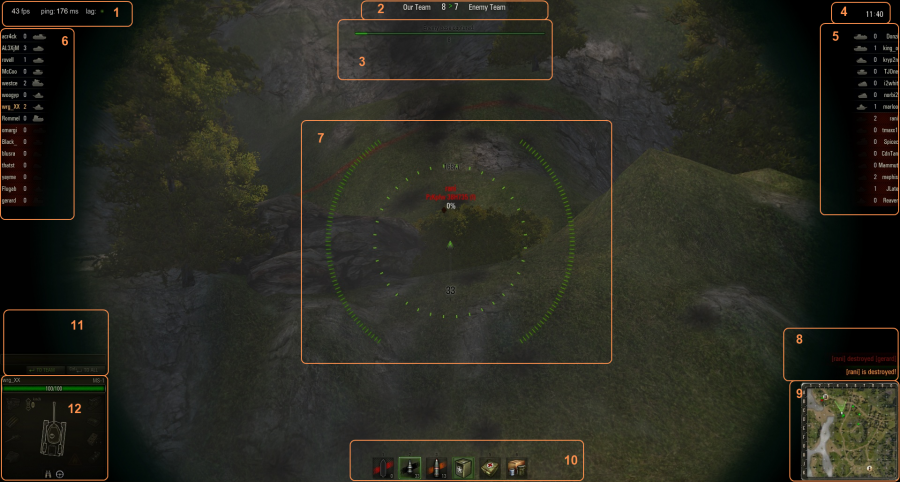 A common scene from a battle. In this particular scene the player was looking down his sights for a more accurate shot.