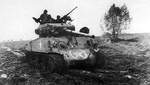 M4A3E8 Medium Tank with the 761st Tank Battalion outside of Nancy France on November 8 1944.png