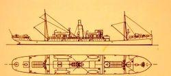 Схема парохода Graf von Goetzen