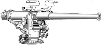 Орудие Mark 9 калибром 102-мм с длиной ствола 50 калибров